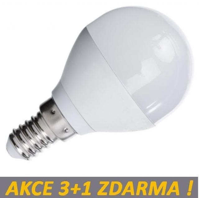 LED21 LED žárovka 4W 340lm E14 Teplá bílá, 3+1 ZDARMA
